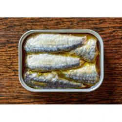 Sardines Artisanales à l'Huile d'Olive Bio 12 × 115 gr