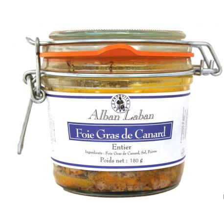 Foie gras entier de canard - Bocal 180g
