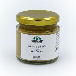 Crème d'ail BIO aux Cèpes