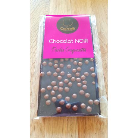 Tablette noir aux perles craquantes 100 g